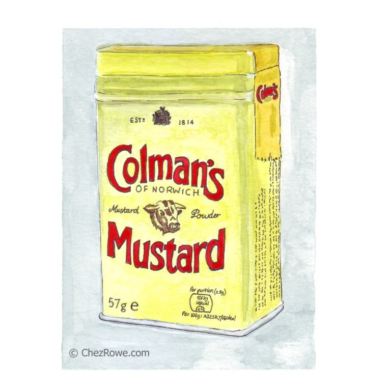 Colmans Mustard illustration